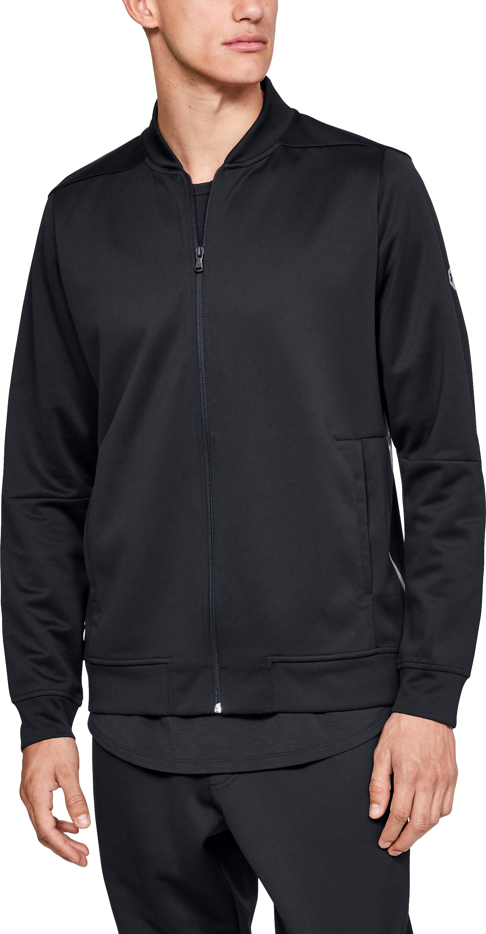Men's Athlete Recovery Track Suit™ Jacket, Black , zoomed