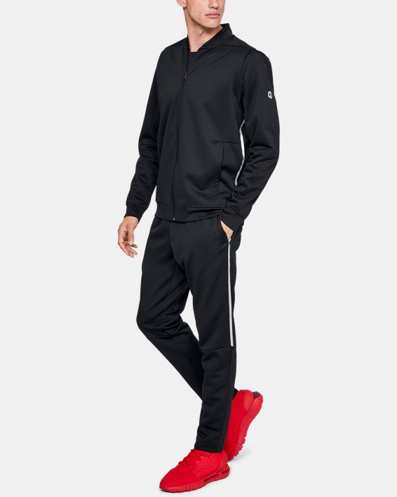 Men's UA RECOVER™ Track Suit Jacket, Black, pdpMainDesktop image number 1