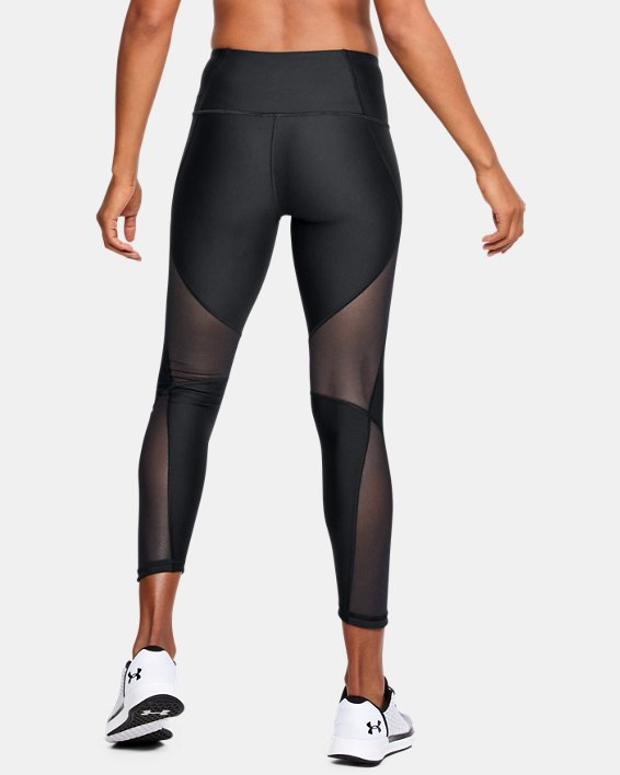 Women's HeatGear® Armour Mesh Ankle Crop, Black, pdpMainDesktop image number 2