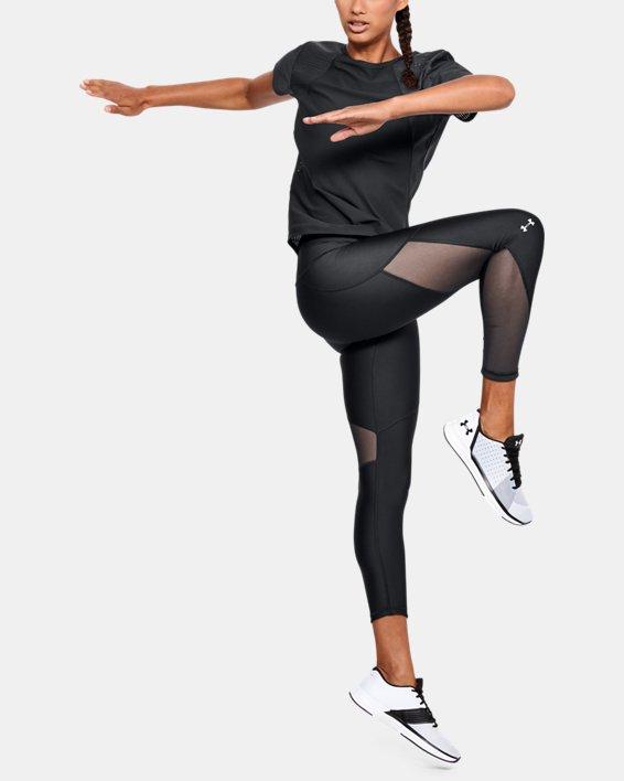 Women's HeatGear® Armour Mesh Ankle Crop, Black, pdpMainDesktop image number 1