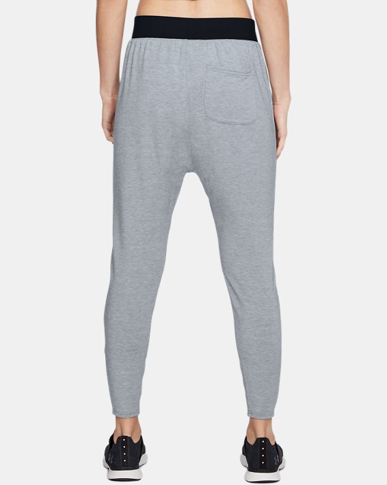 Women's UA Modal Terry Tapered Slouch Pants, Gray, pdpMainDesktop image number 2