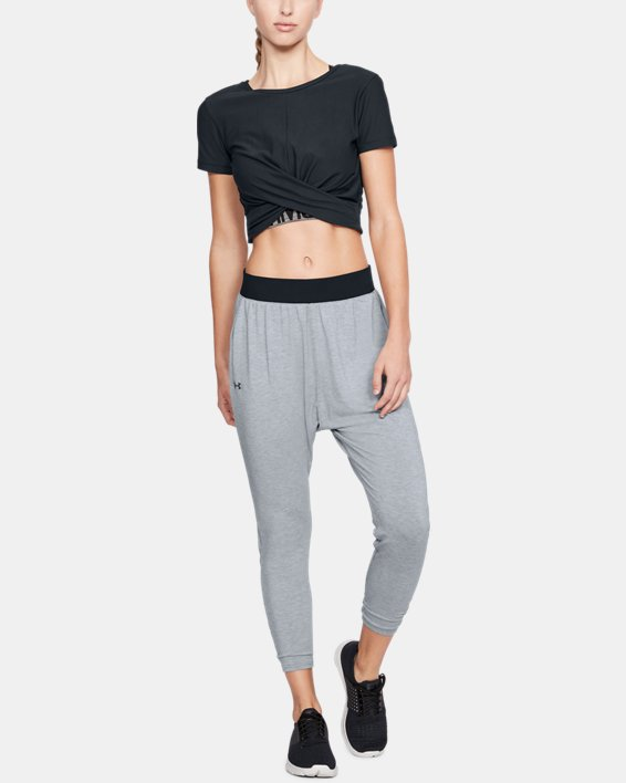 Women's UA Modal Terry Tapered Slouch Pants, Gray, pdpMainDesktop image number 1
