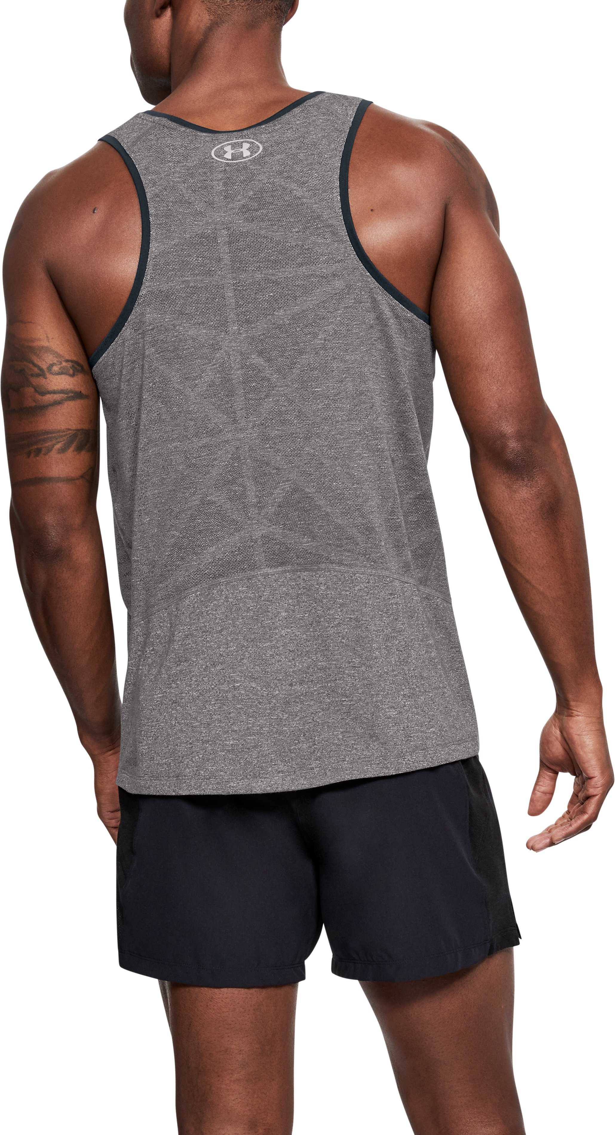 Men's UA Swyft Singlet, CHARCOAL LIGHT HEATHER, undefined