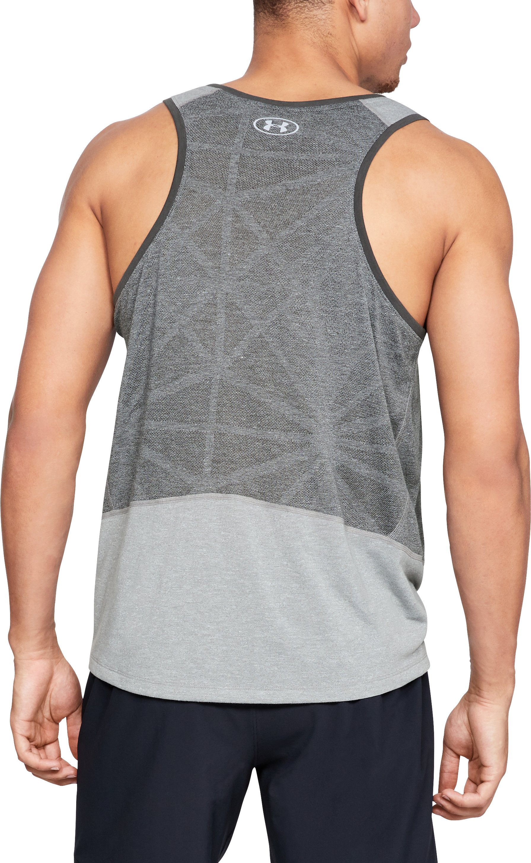 Men's UA Swyft Singlet, STEEL LIGHT HEATHER,