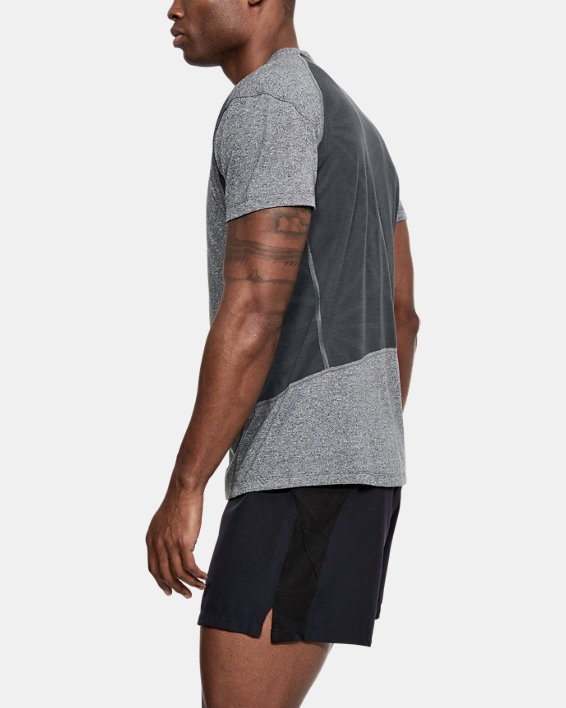 T-shirt UA Microthread Swyft pour homme, Gray, pdpMainDesktop image number 3