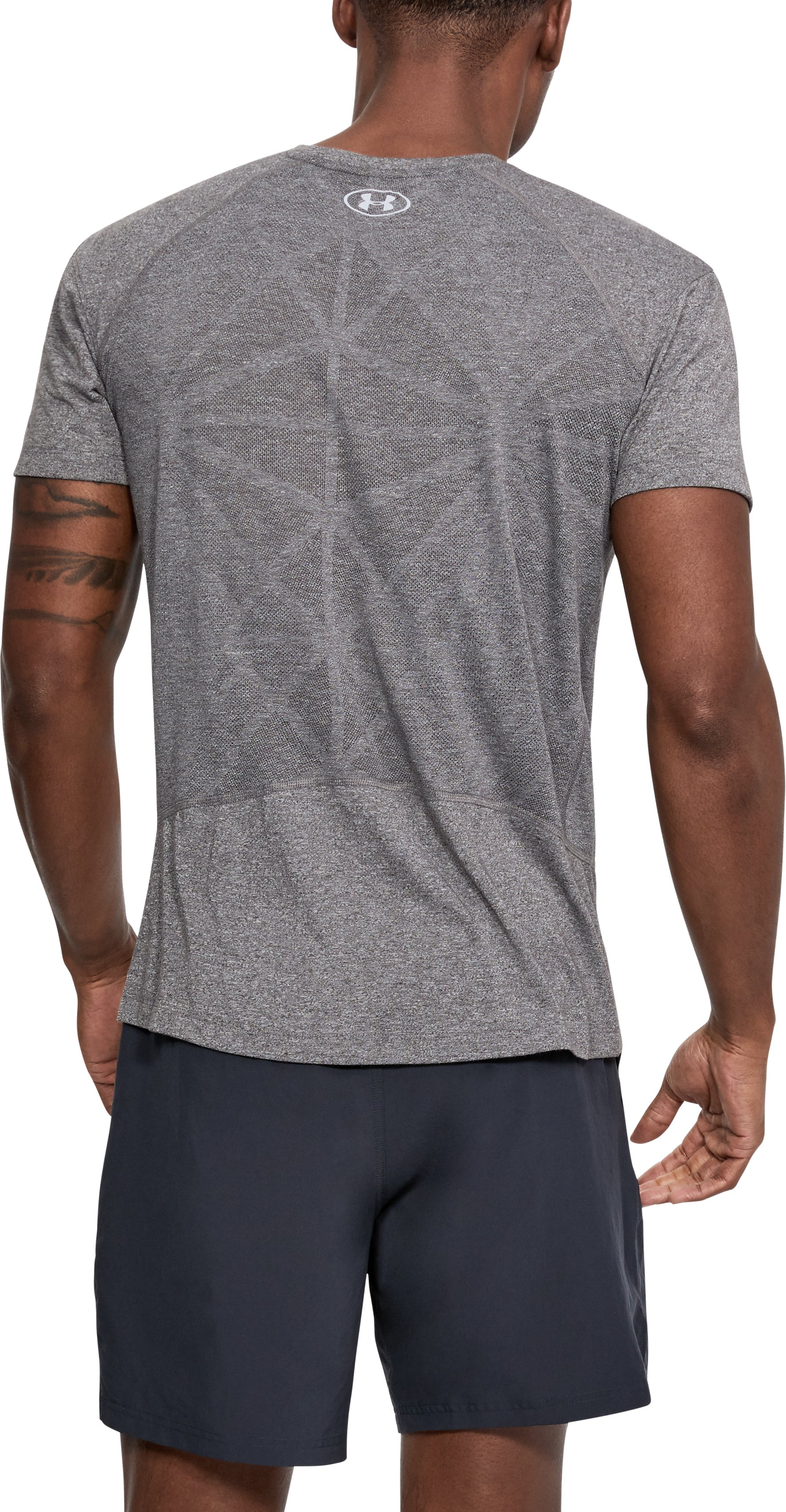Men's UA Swyft T-Shirt, CHARCOAL LIGHT HEATHER,