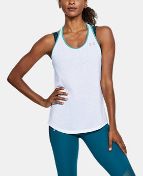 Women's UA Microthread Swyft Racer Tank  1  Color Available $35