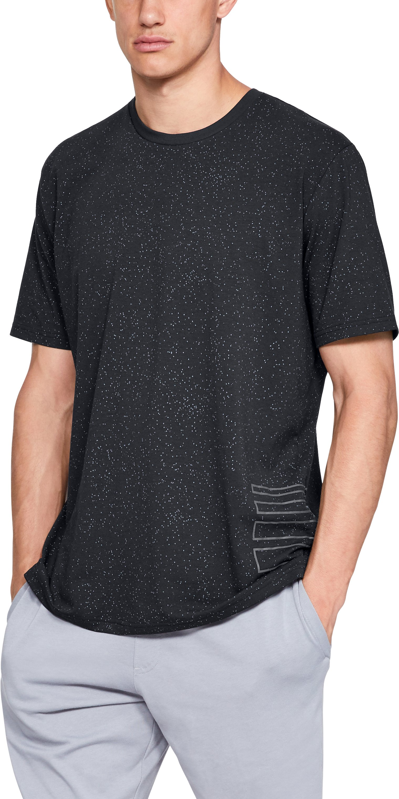 Men's UA Speckle Print Short Sleeve T-Shirt, Black