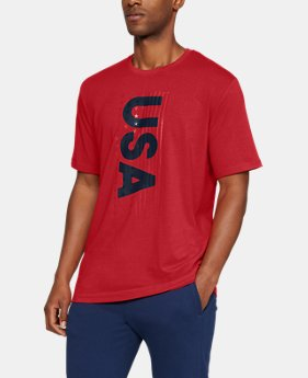 Men's UA USA Glory Short Sleeve T-Shirt  2  Colors Available $25