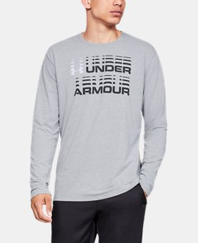 New Arrival  Men's UA Wordmark Glitch Long Sleeve  1  Color Available $35