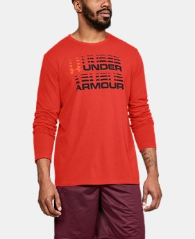 New Arrival  Men's UA Wordmark Glitch Long Sleeve  3  Colors Available $35