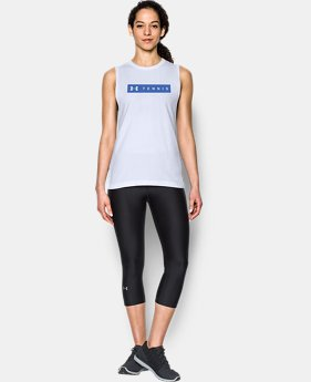 Women's Tennis Big Logo Muscle T  1 Color $16.99