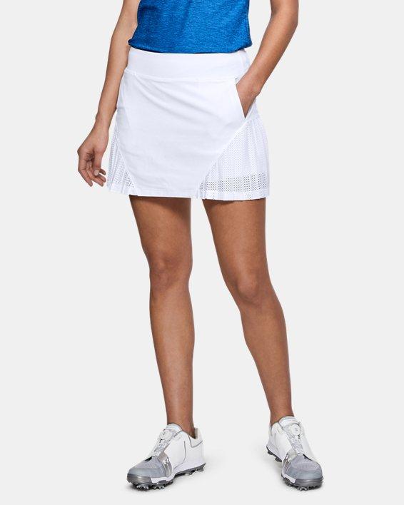 Women's UA Links Knit Mesh Skort, White, pdpMainDesktop image number 0
