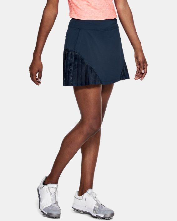 Women's UA Links Knit Mesh Skort, Navy, pdpMainDesktop image number 0