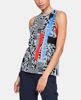 New Arrival Women's UA Chop Block Print Muscle Tank  1  Color Available $30