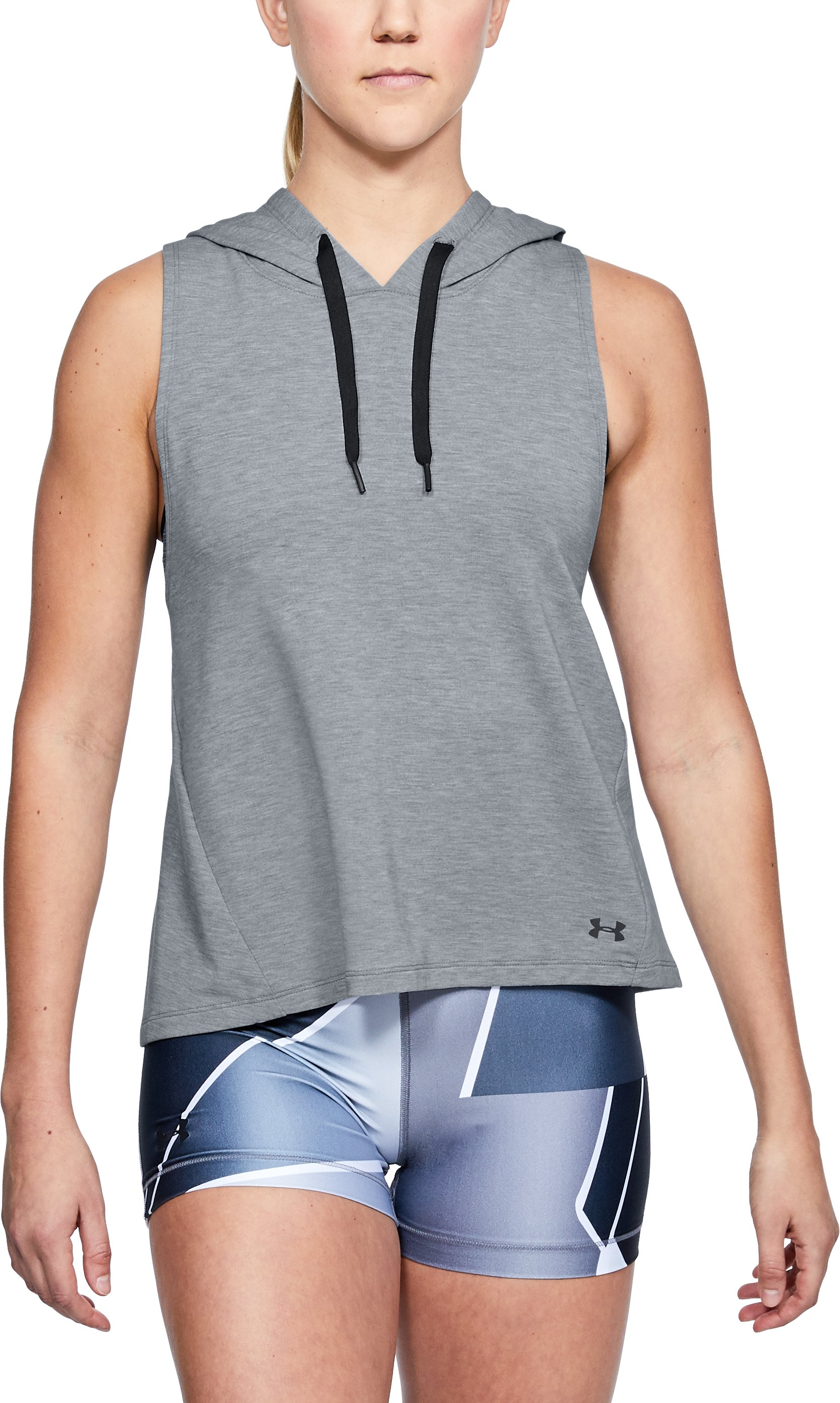 Women's UA Modal Terry Vest, STEEL FADE HEATHER