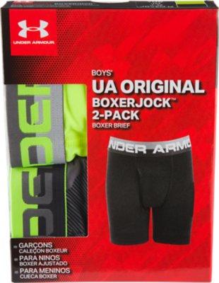 Under Armour Original Series Mens Boxer Short 2 Pack Printed Boxer Jock Black x2