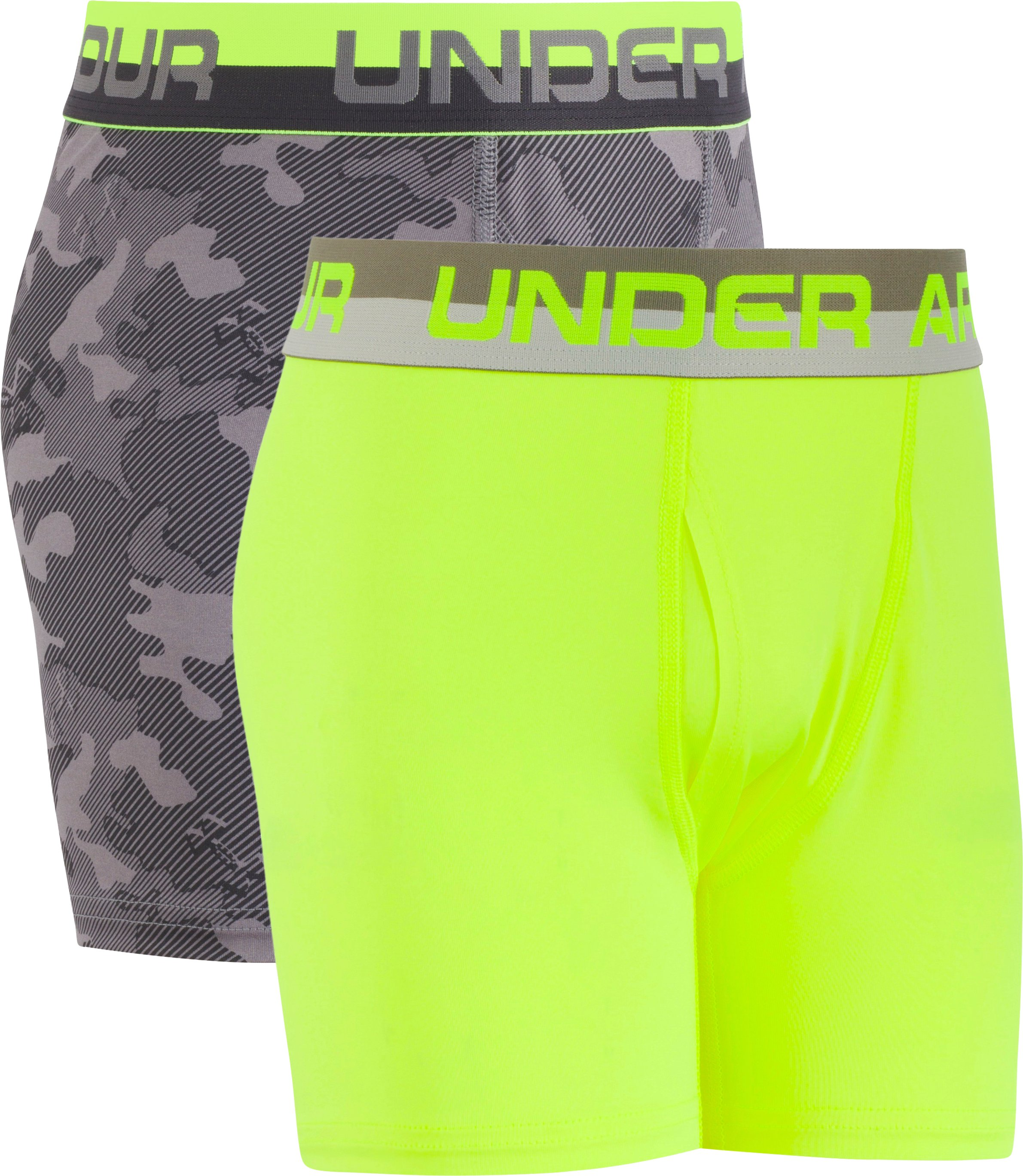 Boys' UA Original Series Camo Boxerjock® 2-Pack, Graphite, undefined