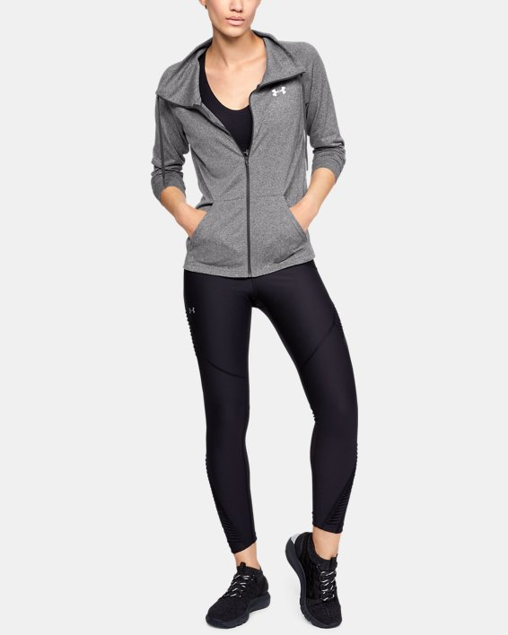 Women's UA Tech™ Full Zip, Gray, pdpMainDesktop image number 1