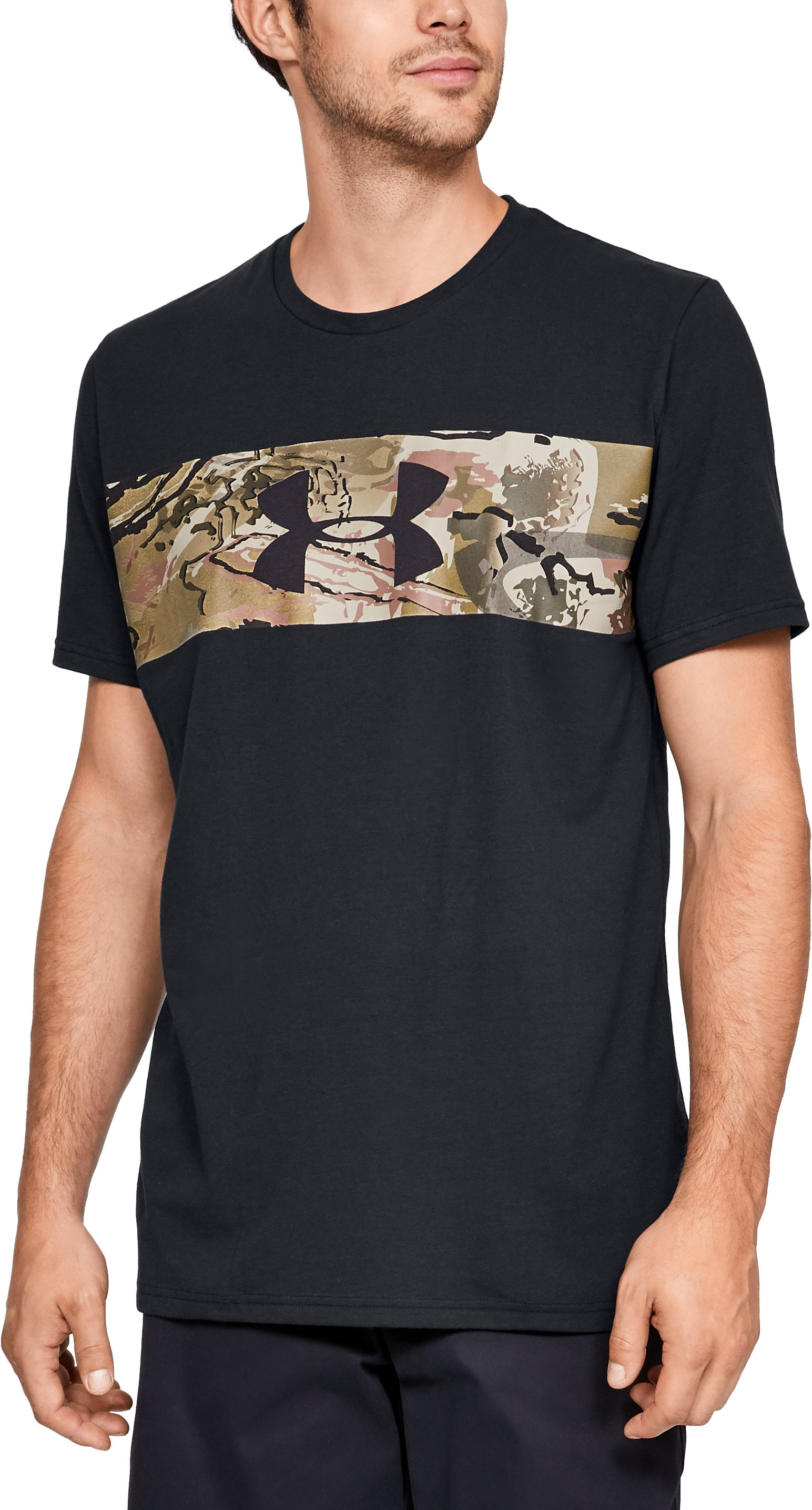 Men's UA Banded Camo T-Shirt, Black
