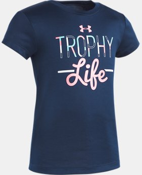 Girls' Pre-School UA Trophy Life Short Sleeve  1  Color Available $17.99