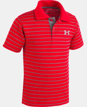 New Arrival Boys' Pre-School UA Playoff Stripe Polo   1  Color $26.99