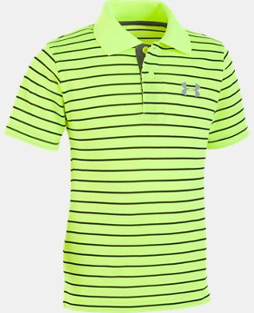 New Arrival Boys' Pre-School UA Playoff Stripe Polo   4  Colors $26.99