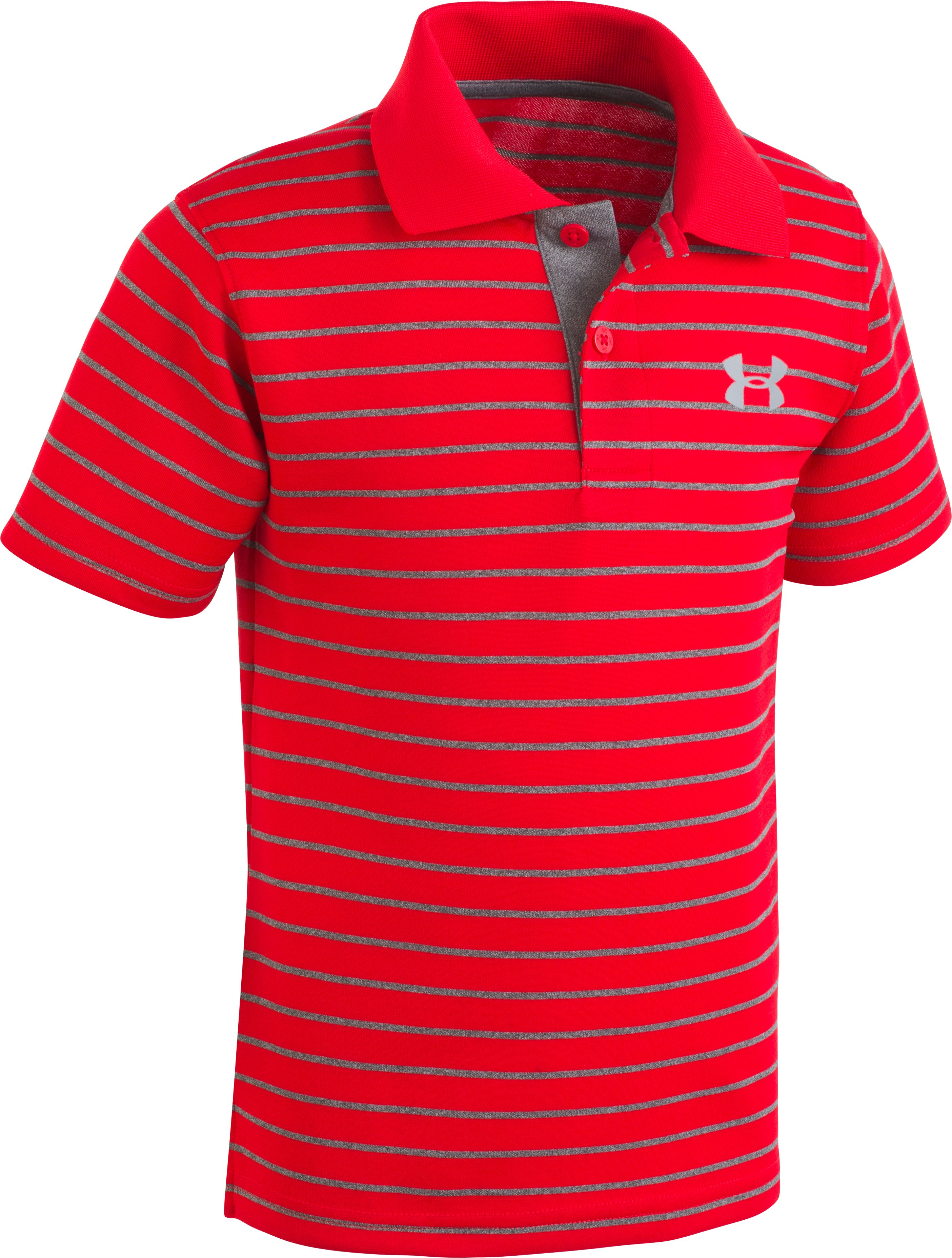 Boys' Infant UA Playoff Stripe Polo, Red, zoomed