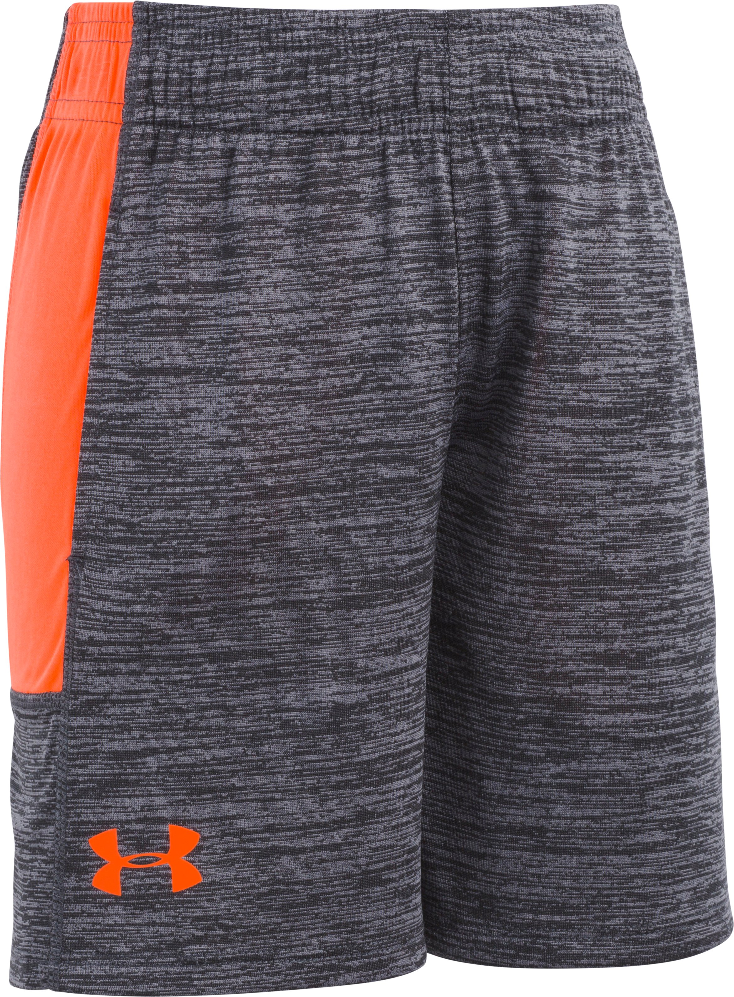 Boys' Pre-School UA Twist Stunt Shorts , ANTHRACITE, Laydown