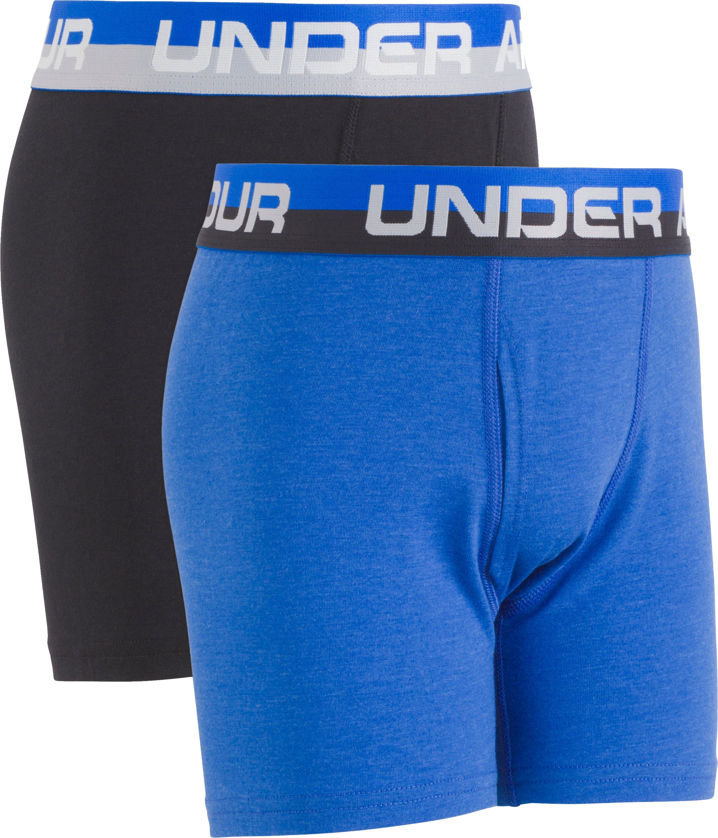 Boys' Charged Cotton® Boxerjock® 2-Pack, ULTRA BLUE MEDIUM HEATHER,