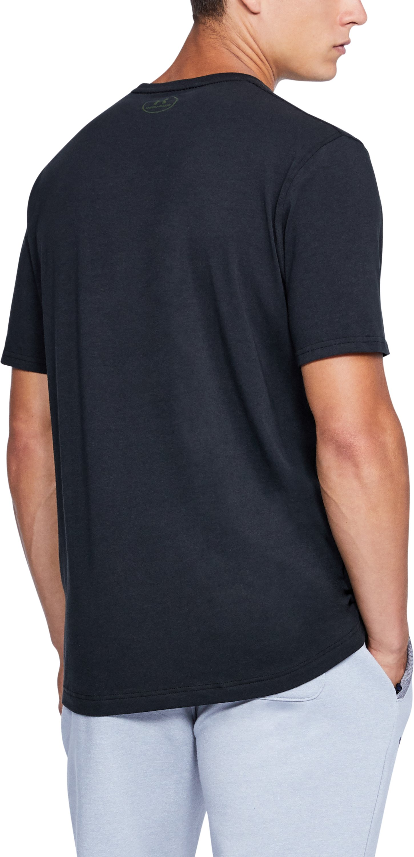 Men's UA x Project Rock Never Full T-Shirt, Black ,