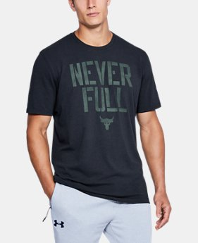 Men's UA x Project Rock Never Full T-Shirt  1 Color $34.99
