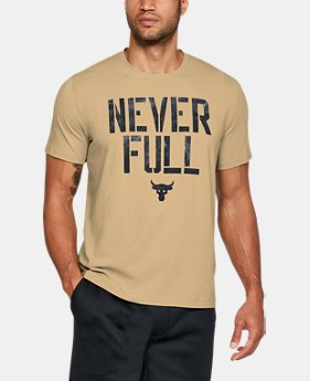Best Seller Men's UA x Project Rock Never Full T-Shirt  2 Colors $34.99