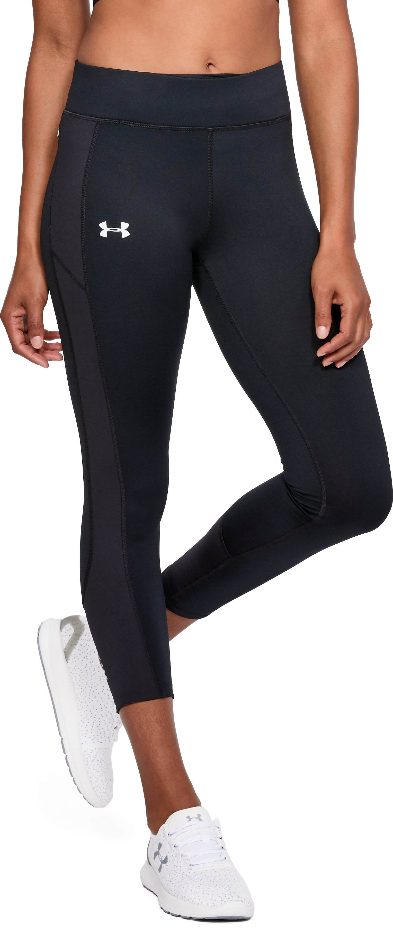 Women's UA Speedpocket Crop, Black , undefined
