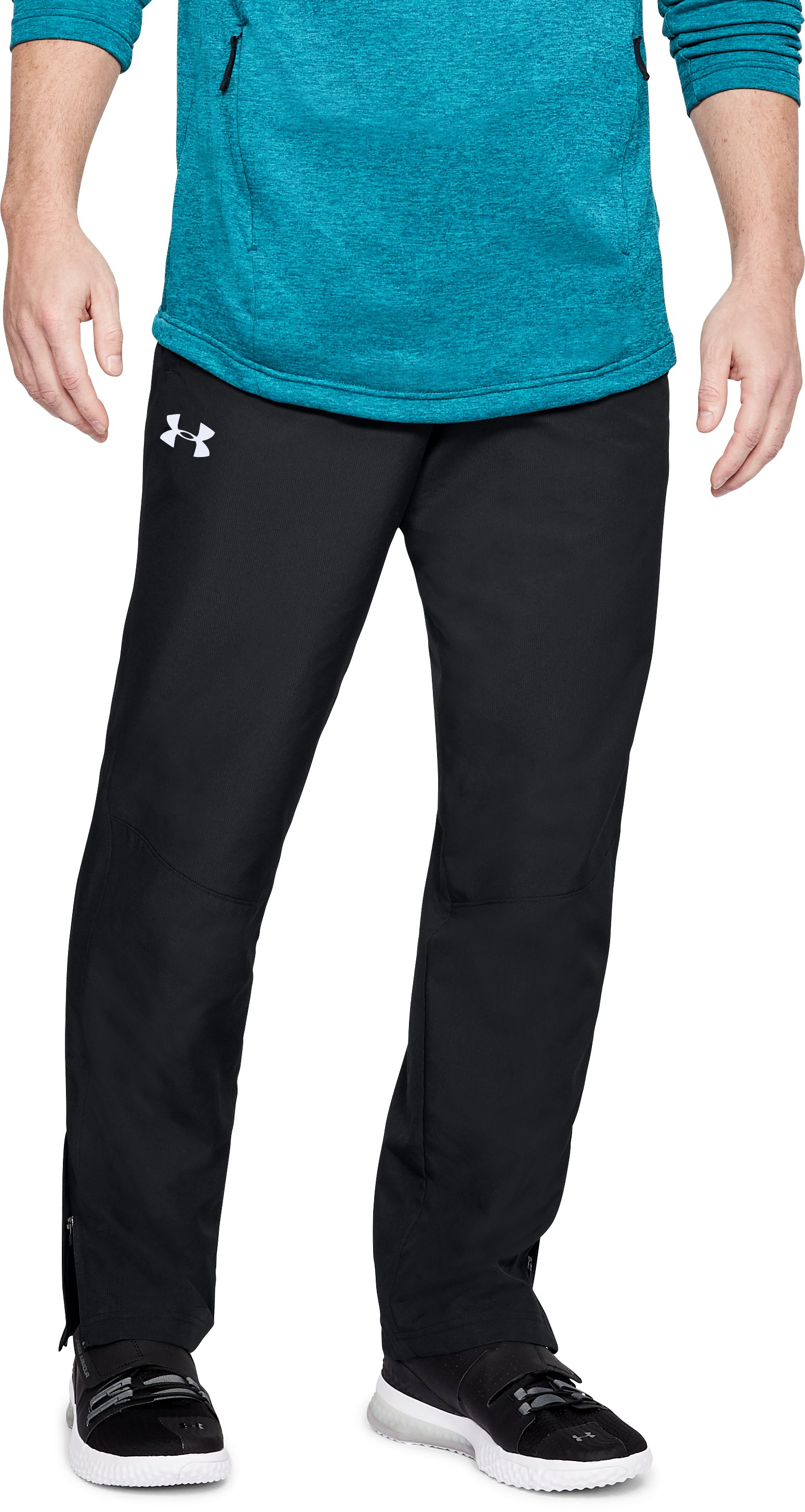 Men's UA Sportstyle Woven Pants, Black , undefined