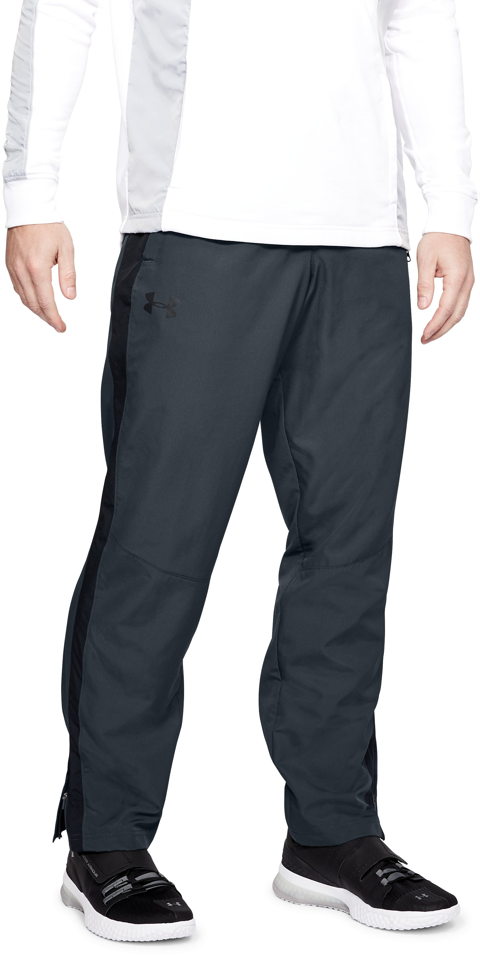 Men's UA Sportstyle Woven Pants, STEALTH GRAY