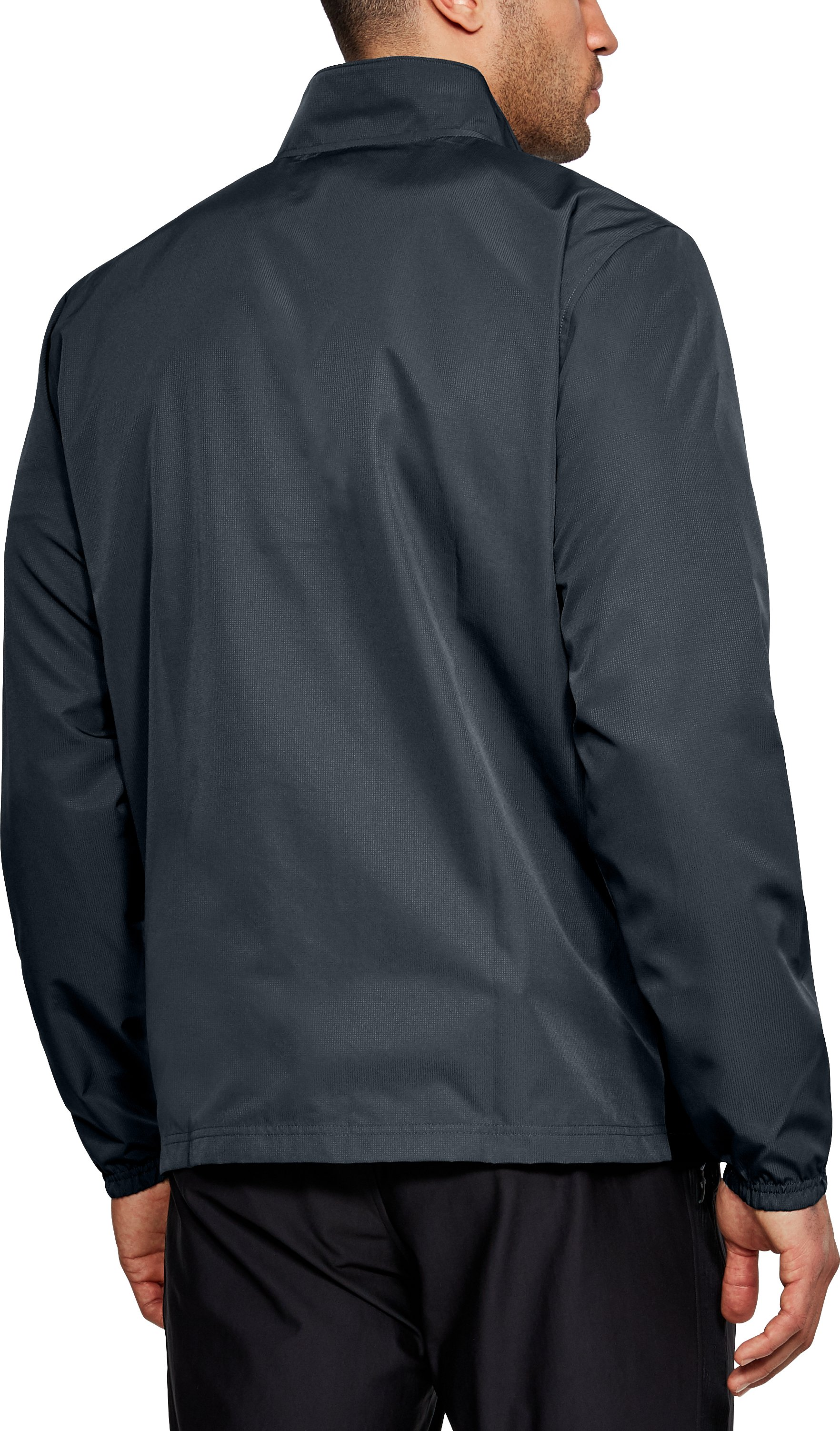 Men's UA Sportstyle Woven Full Zip Jacket, STEALTH GRAY,