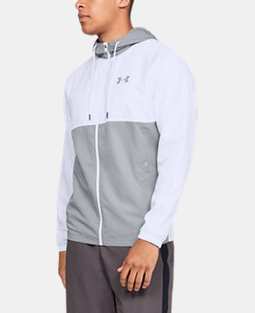 New Arrival  Men's UA Sportstyle Woven Full Zip Hoodie  1  Color Available $60
