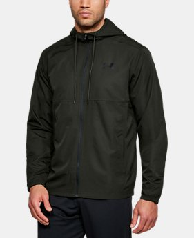 New Arrival Men's UA Sportstyle Woven Full Zip Hoodie  1  Color $55