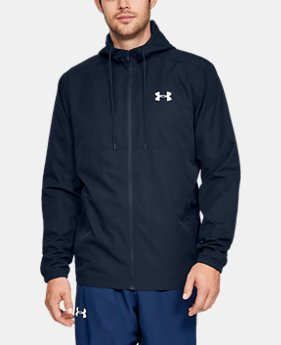 New Arrival Men's UA Sportstyle Woven Full Zip Hoodie  1  Color Available $55