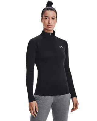 Under Armour Ua Heatgear qualificatif 1//2 Zip Femmes Sports Training Running Top