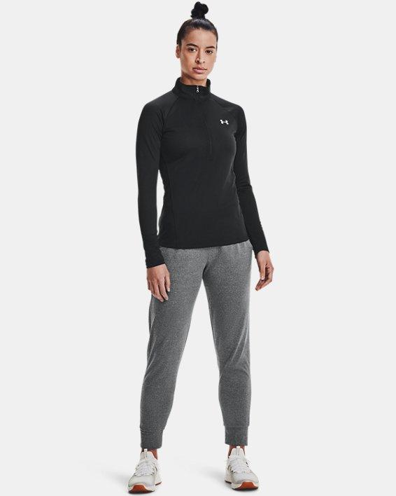 Women's UA Tech™ ½ Zip, Black, pdpMainDesktop image number 1