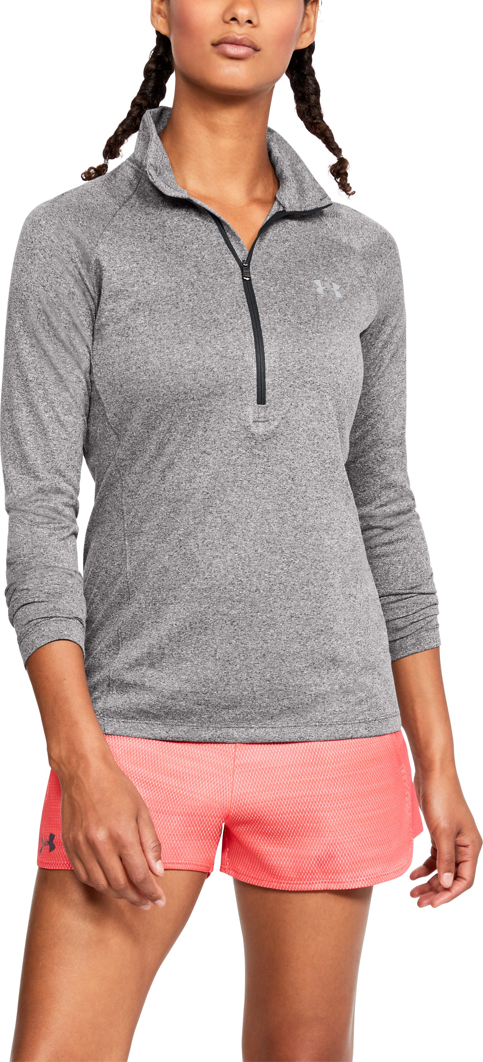 Women's UA Tech™ ½ Zip, CHARCOAL LIGHT HEATHER