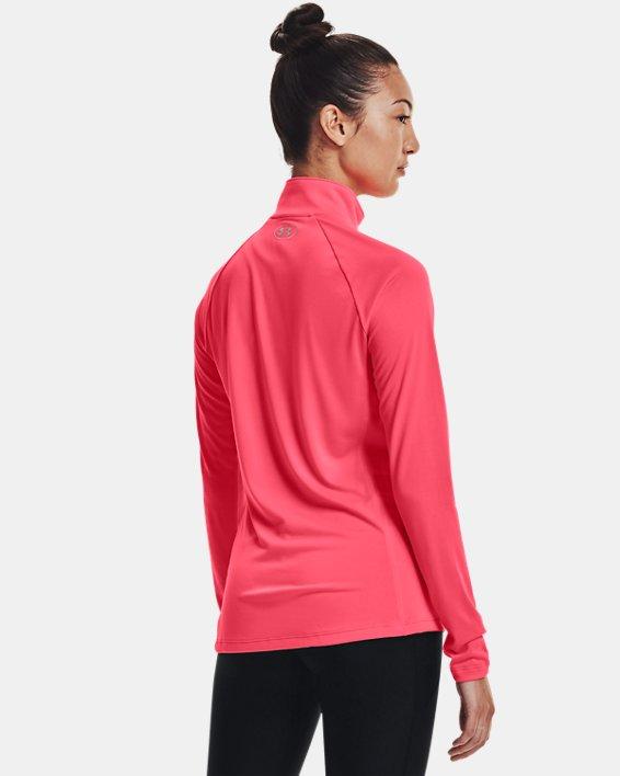 Women's UA Tech™ ½ Zip, Pink, pdpMainDesktop image number 1