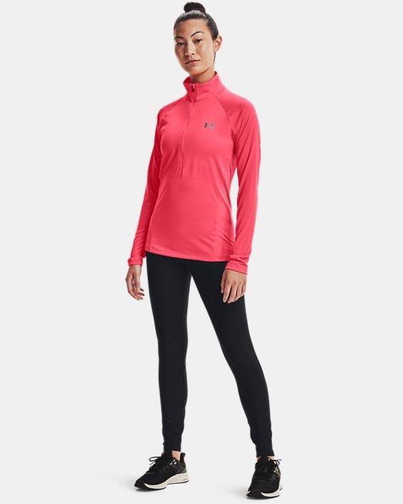 Women's UA Tech™ ½ Zip, Pink, pdpMainDesktop image number 2