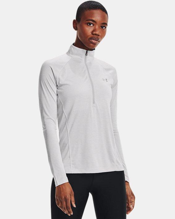 Women's UA Tech™ Twist ½ Zip, Gray, pdpMainDesktop image number 1