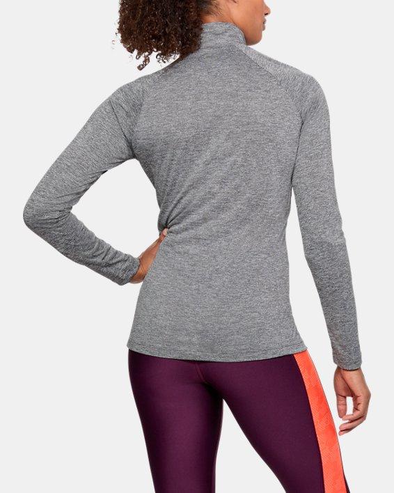 Women's UA Tech™ Twist ½ Zip, Gray, pdpMainDesktop image number 2
