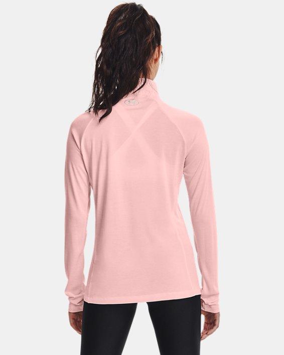 Damen UA Tech™ Twist mit ½-Zip, Pink, pdpMainDesktop image number 1