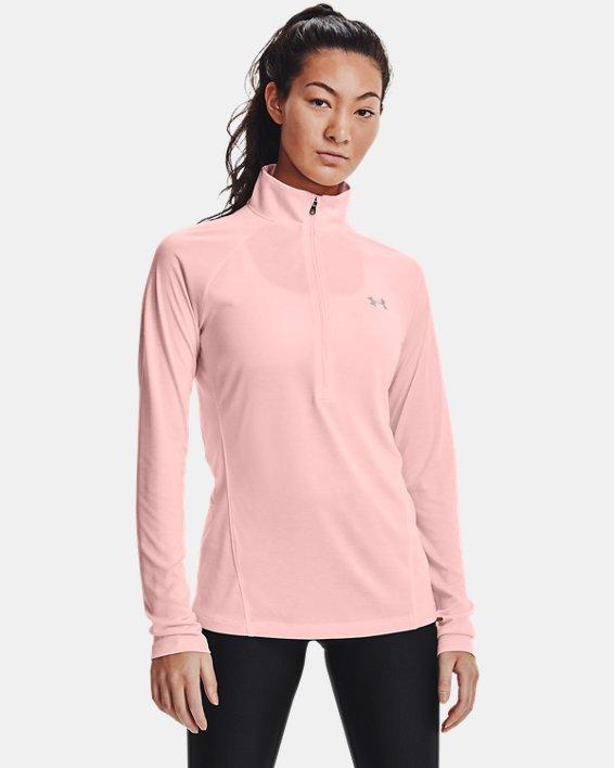 Damen UA Tech™ Twist mit ½-Zip, Pink, pdpMainDesktop image number 0