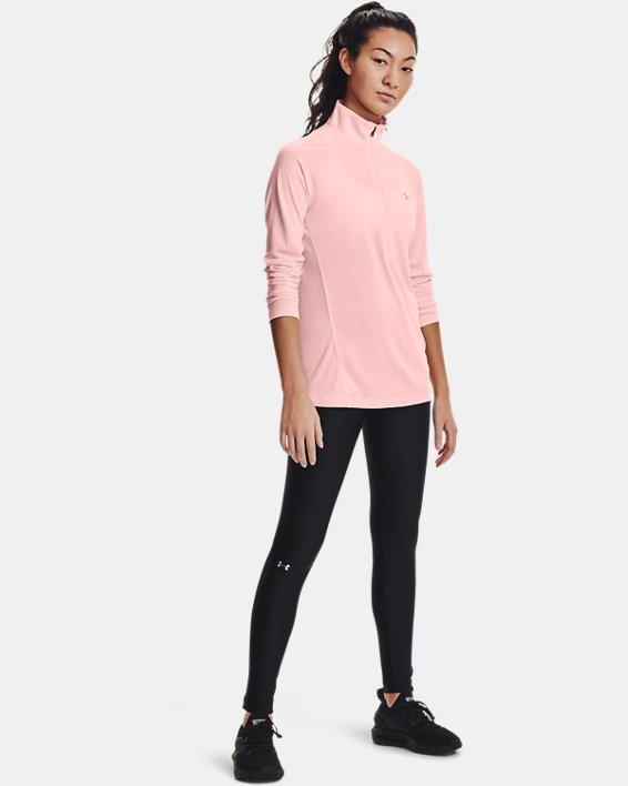 Damen UA Tech™ Twist mit ½-Zip, Pink, pdpMainDesktop image number 2